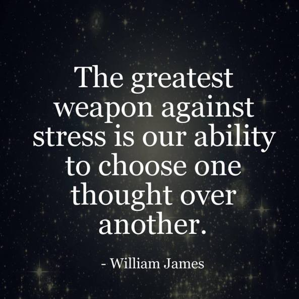 Our Weapon Against Stress